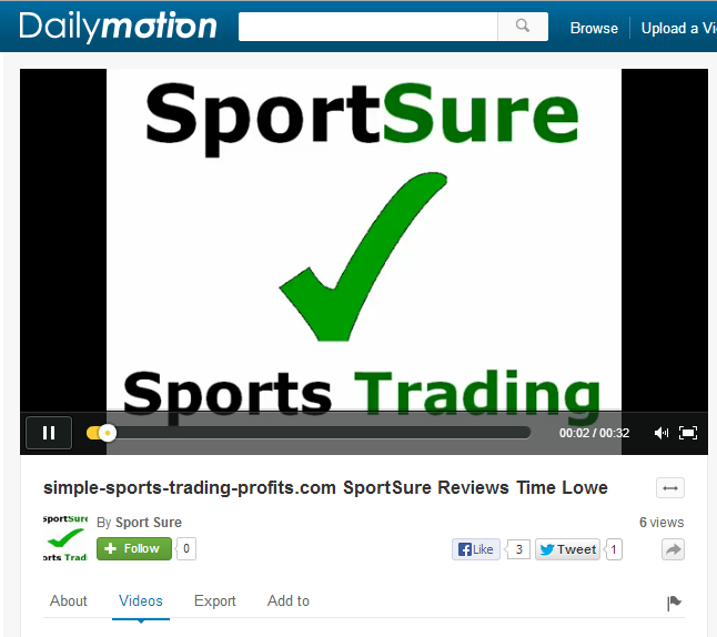 Daily Motion video for SportSure