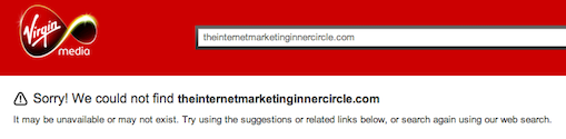Internet Marketing Inner Circle site does not exist